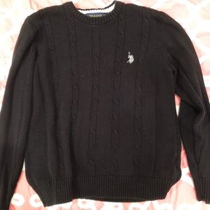 EUC polo Black sweater